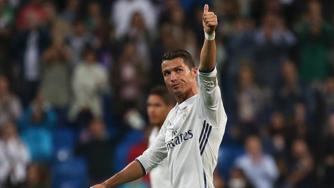 Ronaldo equalized from an 89th minute free kick against his former club and Morata netted the winner deep in injury time to give the hosts a hard-fought victory. (Reuters)
