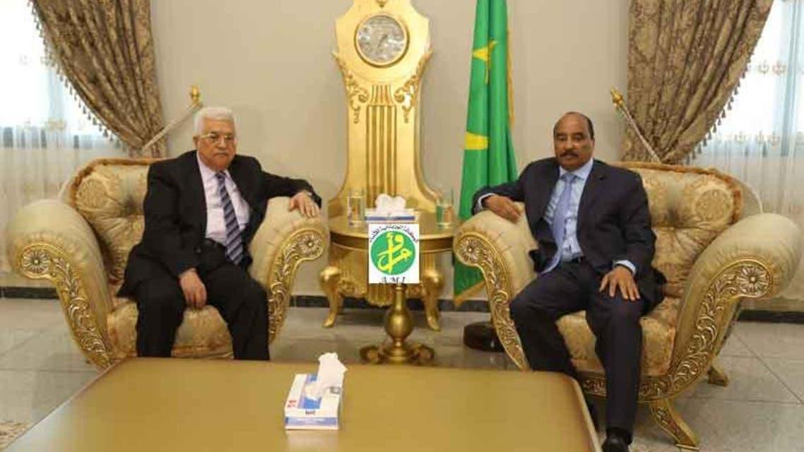 الرئيس الموريتاني والرئيس الفلسطيني