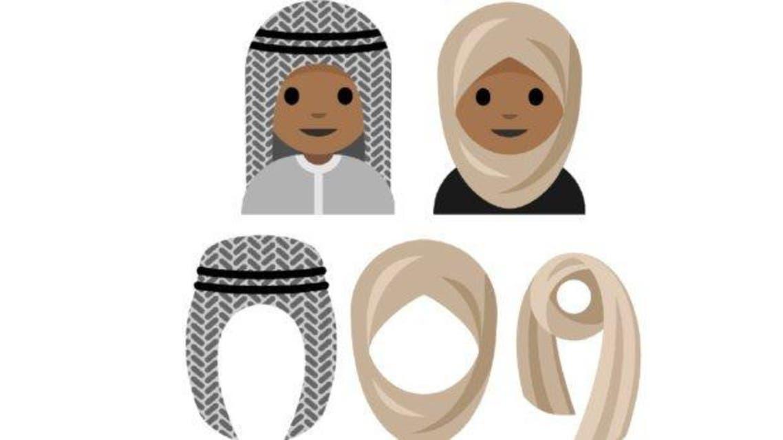 Images of headscarf emoji by Aphelandra Messer. (via Saudi Gazette)