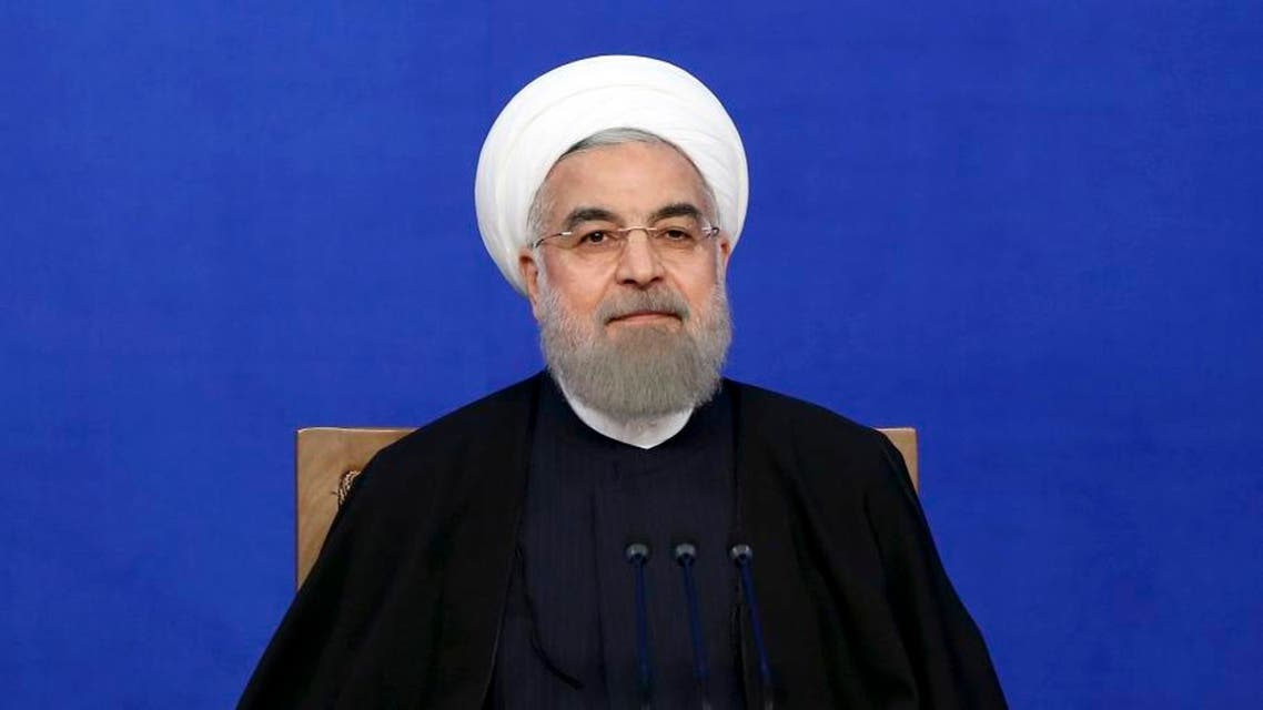 Iranian President Hassan Rowhani sits at the start of his press conference in Tehran. (File photo: AP)