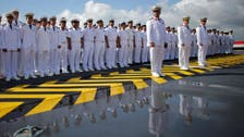 Egypt's navy raises flag on second helicopter carrier purchased from France