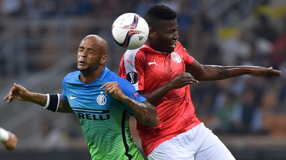 Three times European Champions Inter Milan were stunned 2-0 at home by Israeli side Hapoel Beer-Sheva. (Reuters)
