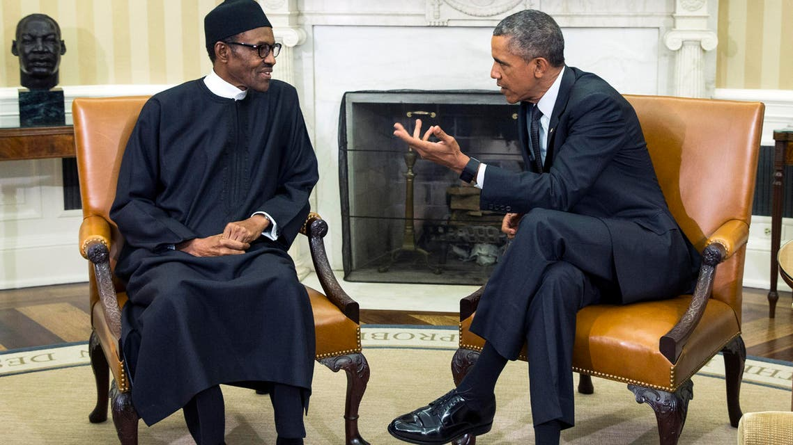 In this  July 20, 2015 file photo, President Barack Obama (right), meets with Nigerian President Muhammadu Buhari, in the Oval Office of the White House, in Washington. (AP)