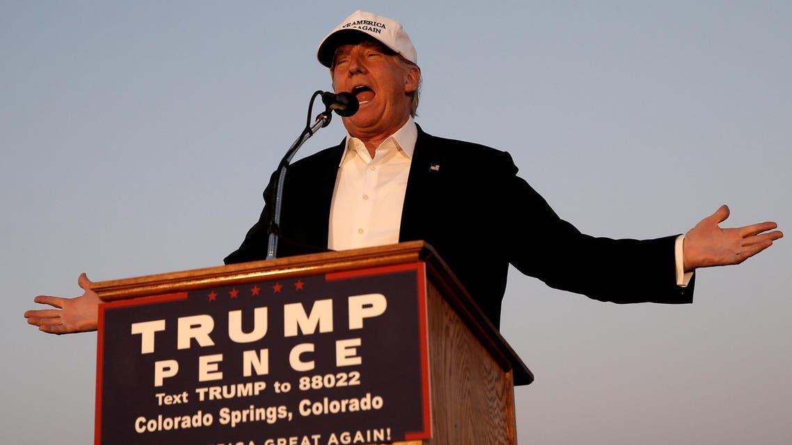 Republican presidential nominee Donald Trump speaks at a campaign rally in Colorado Springs, Colorado, U.S., September 17, 2016. REUTERS