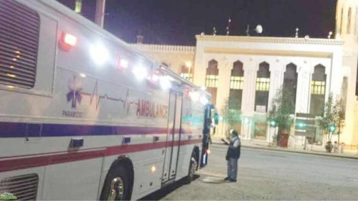 The bus converted into an ambulance was used by the Red Crescent during Hajj. (Photo courtesy: Okaz)