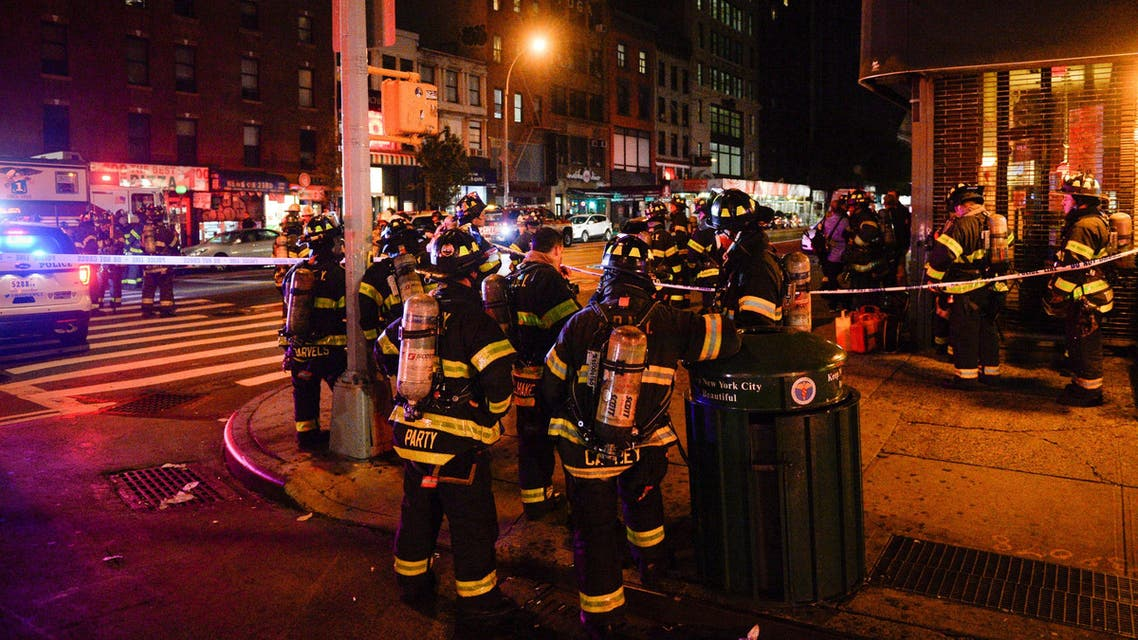 New York City firefighters stand near the site of an explosion in the Chelsea neighborhood of Manhattan, New York, US September 17, 2016. REUTERS