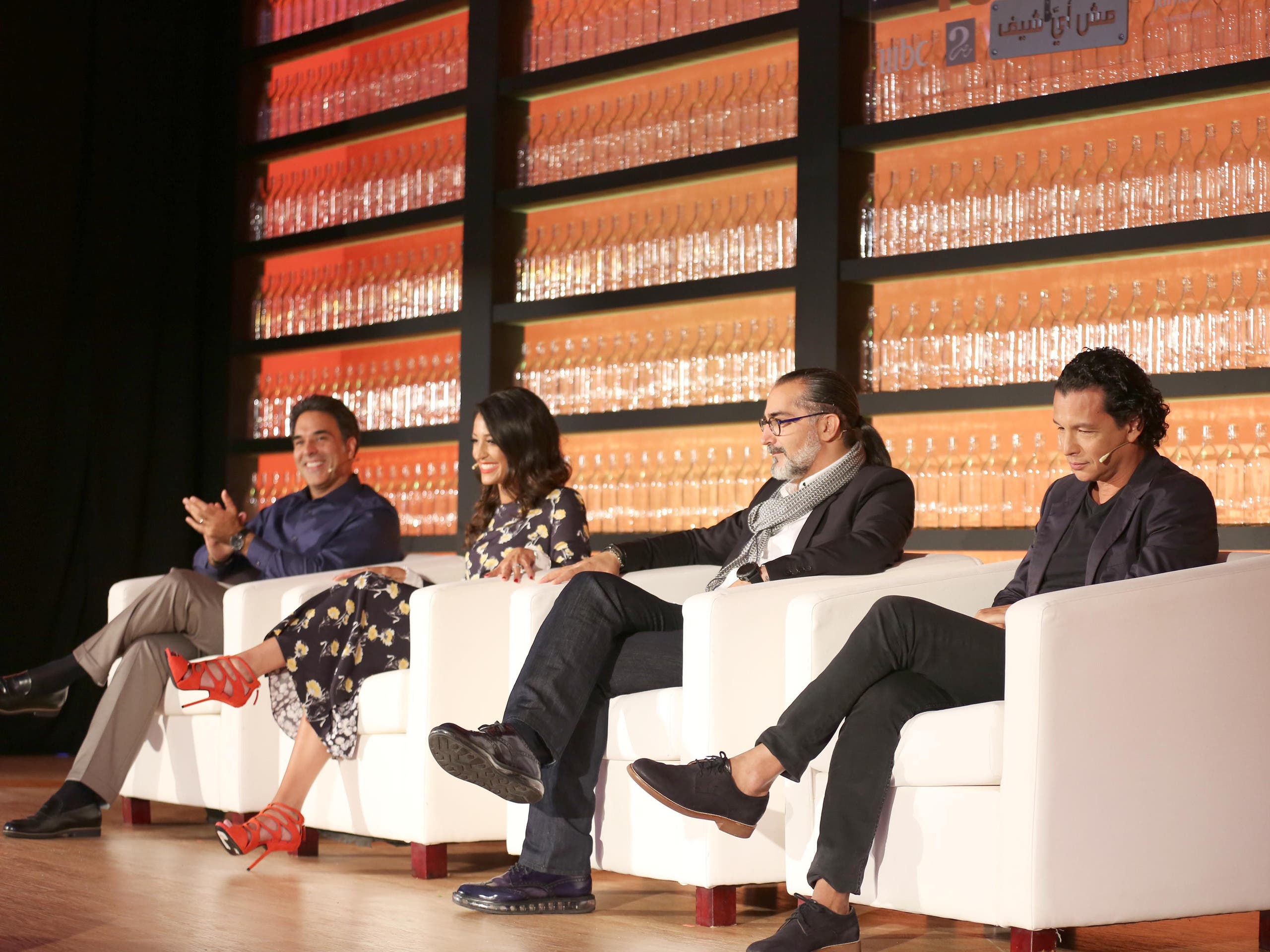 Top Chef Middle East press conference with (from left to right) MBC's Mazen Hayek, Mona Mosly, Maroun Chedid and Bobby Chinn. (MBC)