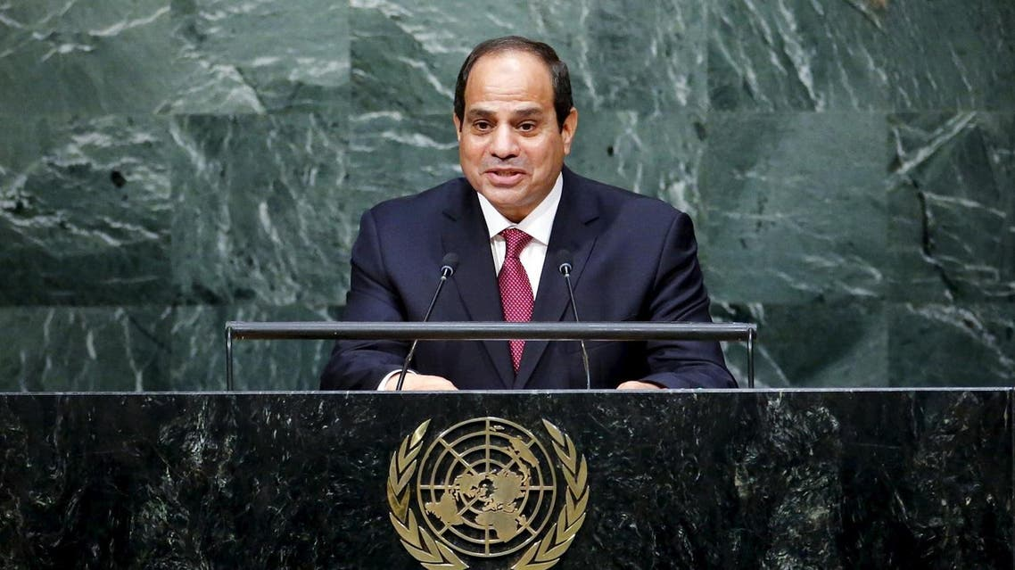 When President Abdel Fattah al-Sisi first took to the UN General Assembly (UNGA) two years ago, he promised to 'build a new Egypt.' (File photo: Reuters)