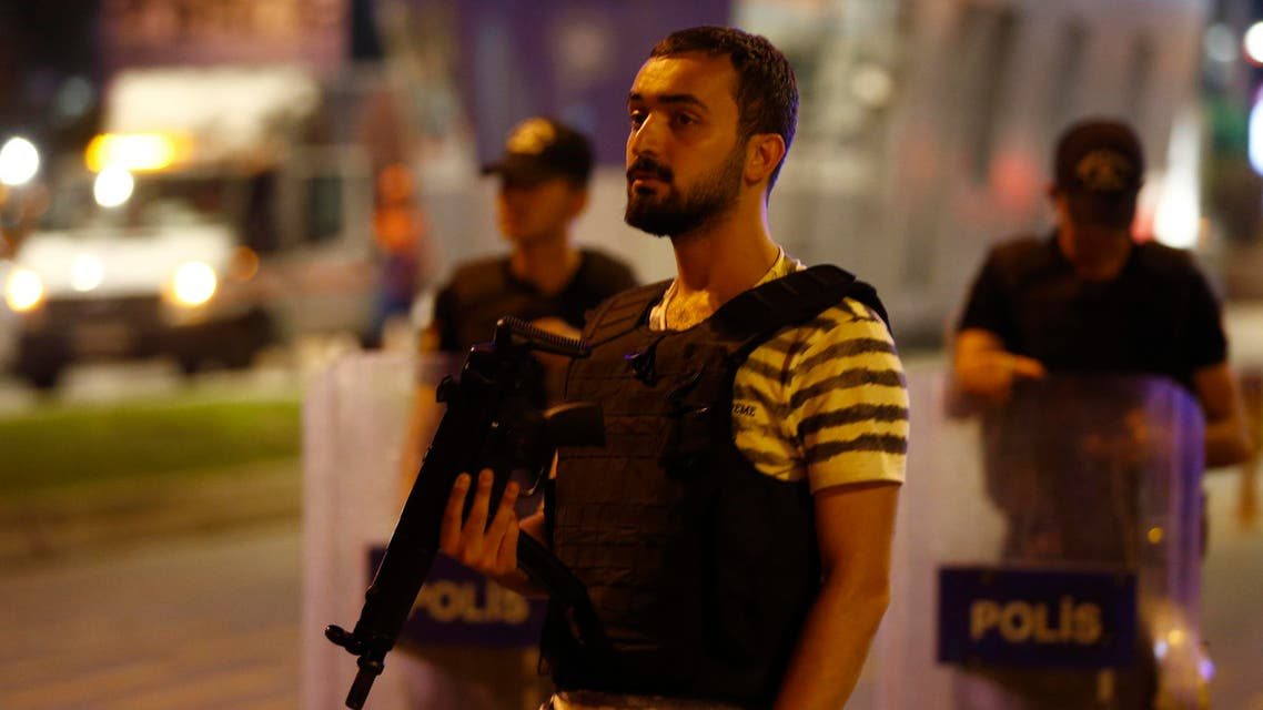 Police guard the entrance to Turkey's largest airport, Istanbul Ataturk, Turkey, following a blast June 28, 2016. REUTERS