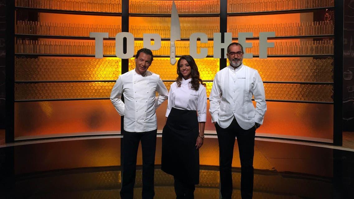 Chef juries Bobby Chinn (L), Mona Mosly (C), and Maroun Chedid. (MBC)