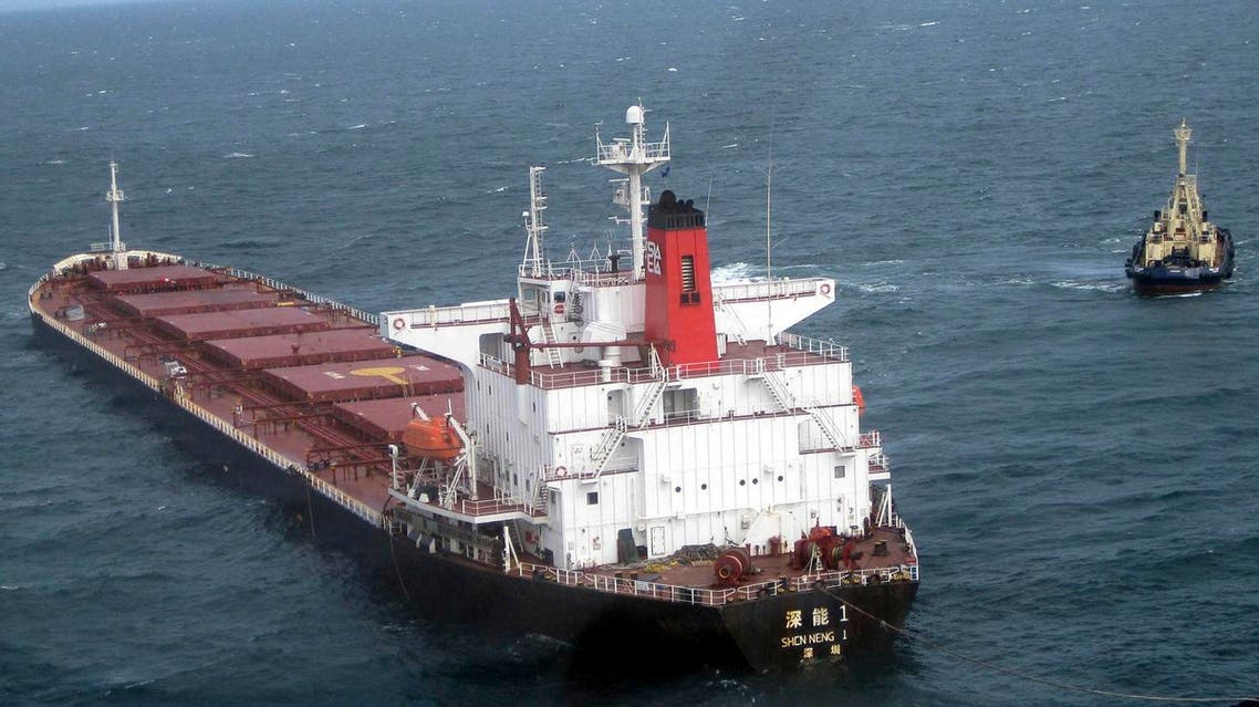 This Thursday April 15, 2010, photo released by China's Xinhua news agency, shows the Chinese coal ship Shen Neng 1 on the sea area near the Port of Gladstone on Queensland's central coast in Australia. The master of the Chinese coal carrier that ran aground and cut a long gash in the Great Barrier Reef didn't alert Australian authorities to the crash for an hour and a half, investigators said Thursday. (AP Photo/Xinhua, Jiang Yaping)