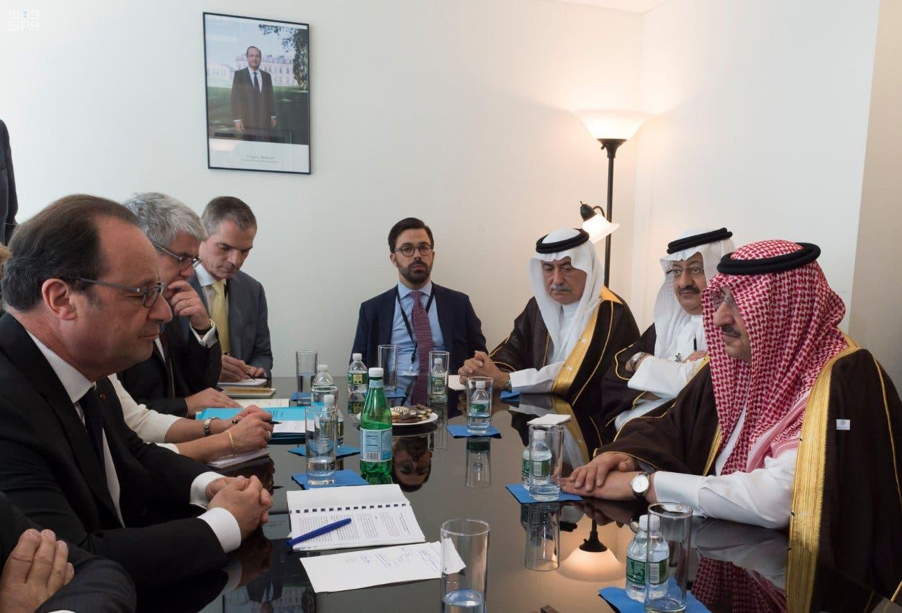الأمير محمد بن نايف مع الرئيس الفرنسي