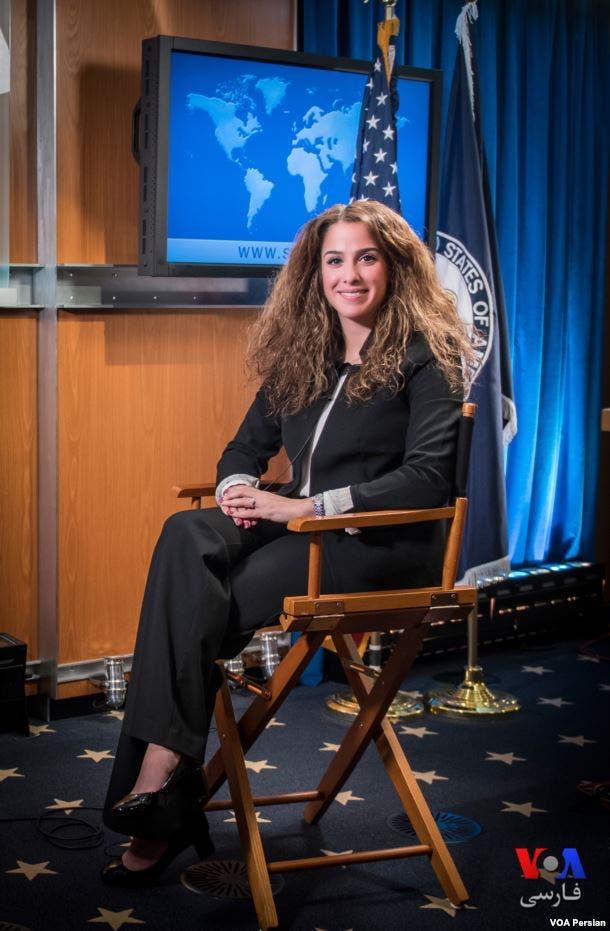 سحر نوروز زادة المتحدثة باسم الخراجية الأميركية باللغة الفارسية
