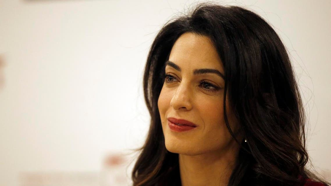 """Amal Clooney told NBC's """"Today"""" show that she discussed with her husband, George, her effort to legally fight ISIS. (AP)"""