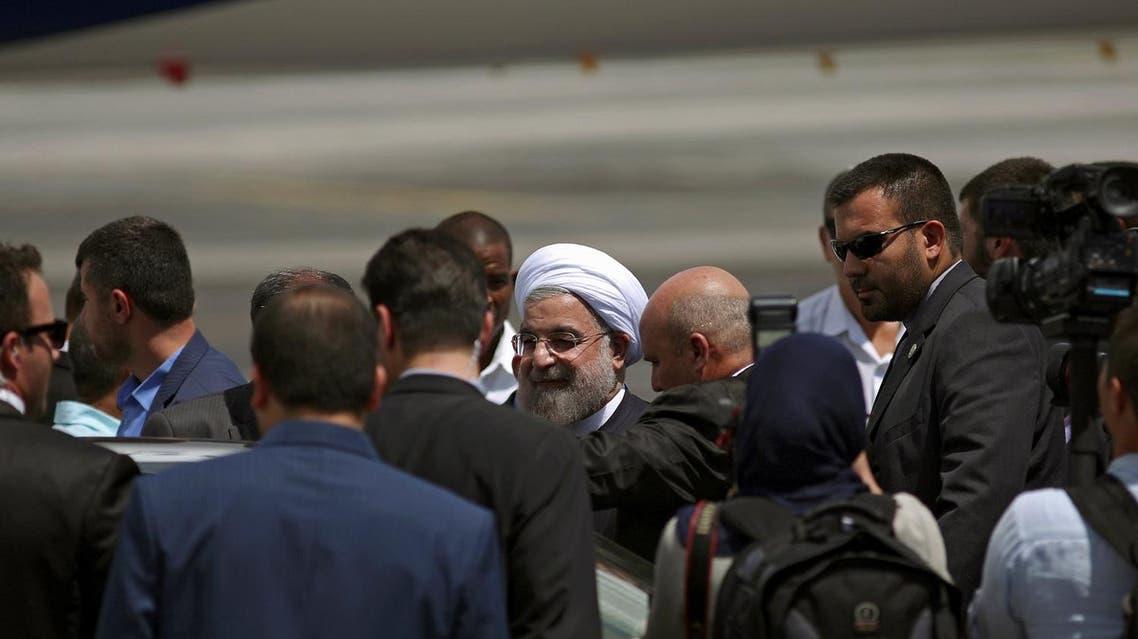 Iran's President Hassan Rouhani arrives at Jose Marti International Airport in Havana, Cuba September 19, 2016. REUTERS/Alexandre Meneghini