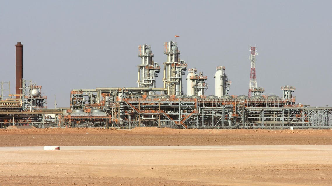 File picture shows the Krechba gas plant on the In Salah gas field in Algeria's Sahara Desert, some 1,200 kilometers (720 miles) south of the capital, Algiers, Algeria. AP