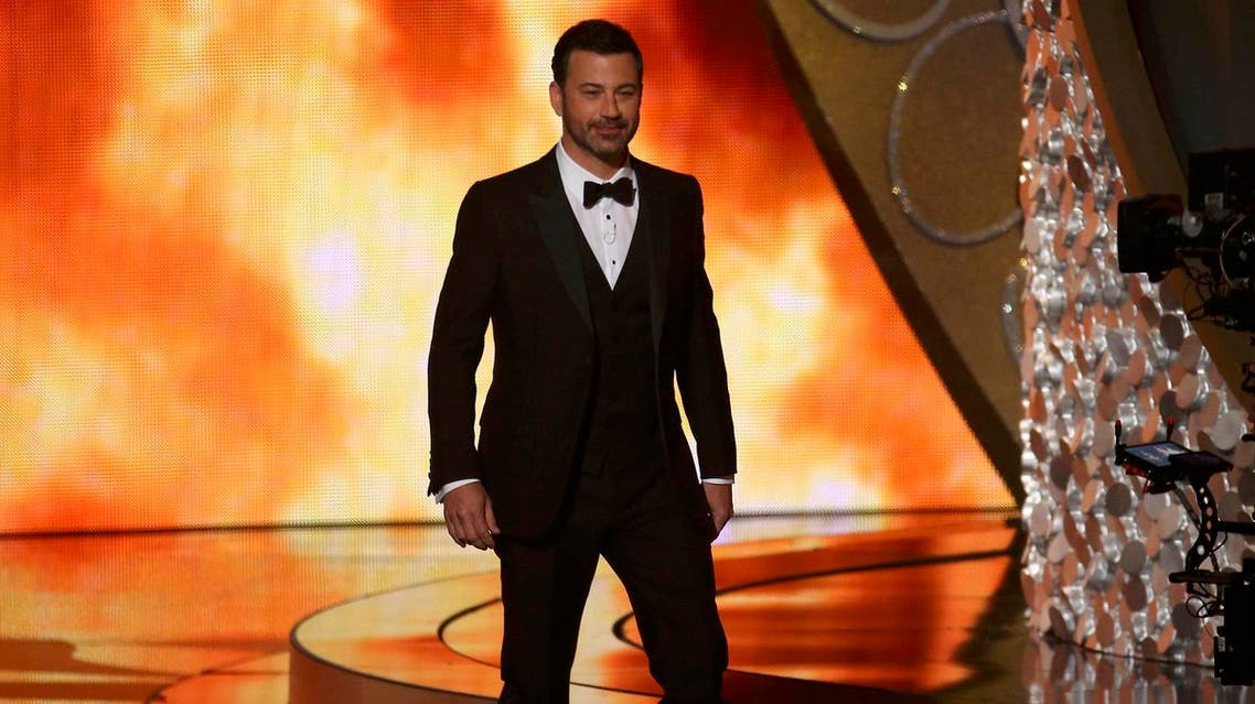 Host Jimmy Kimmel opens the show during the 68th Primetime Emmy Awards in Los Angeles. (Reuters)
