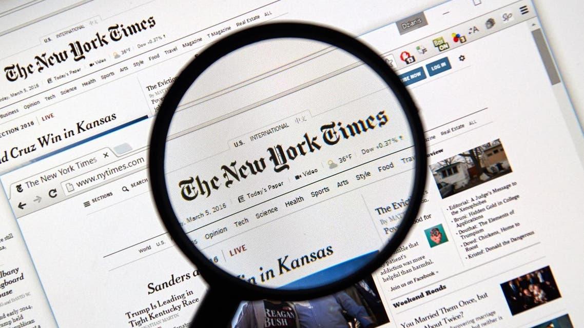 new york times newspaper shutterstock