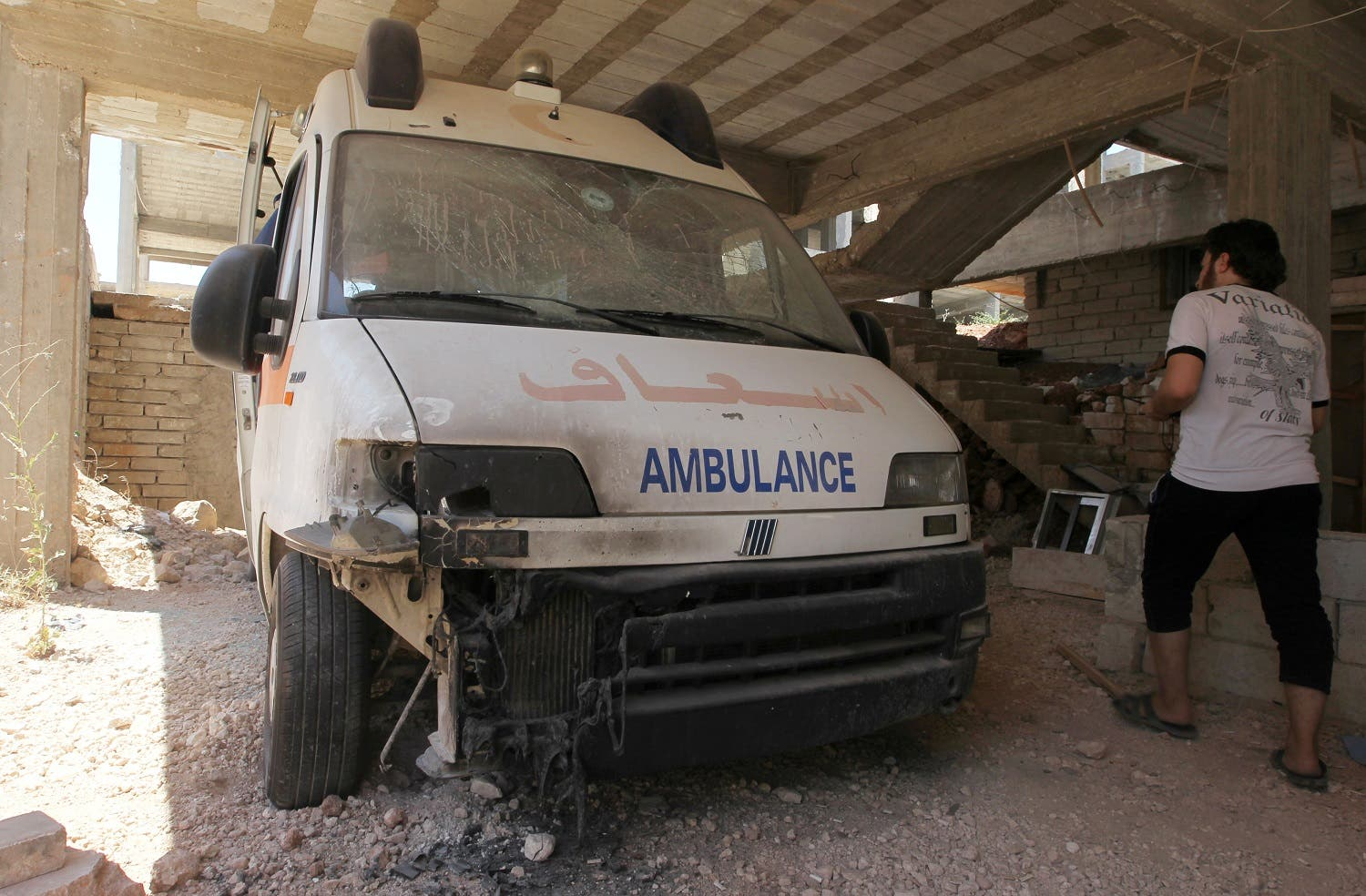 syria aleppo ambulance attack reuters