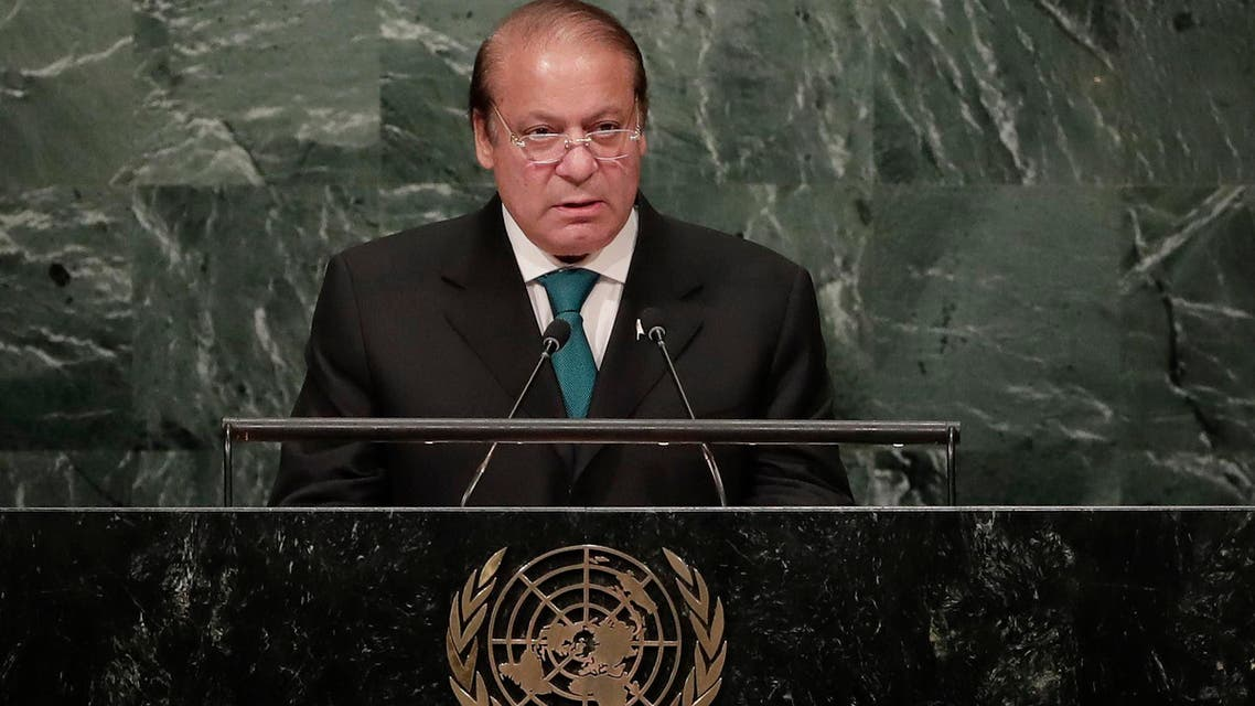 """Sharif told the annual UNGA Pakistan could not ignore India's """"unprecedented"""" arms build-up and would """"take whatever measures are necessary to maintain credible deterrence."""" (AP)"""
