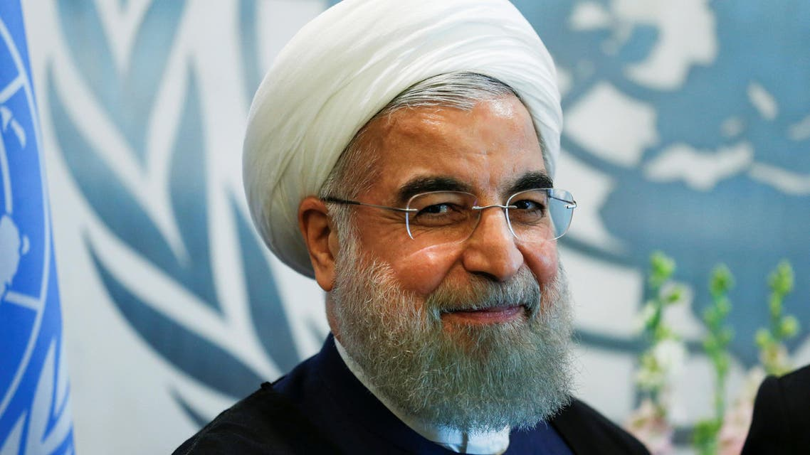 Iran's President Rouhani attends a meeting with UN Secretary General Ban Ki-moon during the United Nations General Assembly in the Manhattan borough of New York. (Reuters)