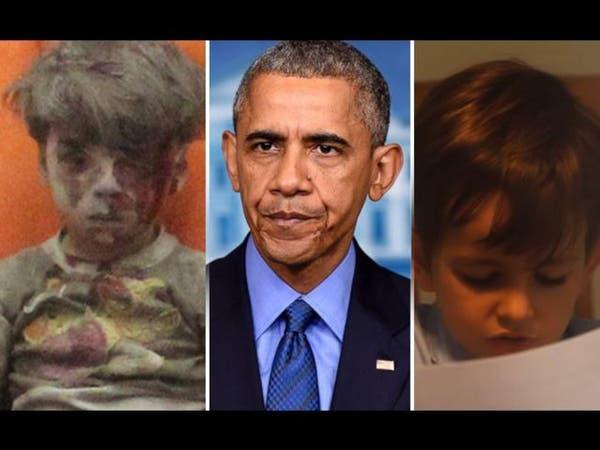 طفل أميركي يسأل أوباما.. هل تتذكر عمران السوري؟