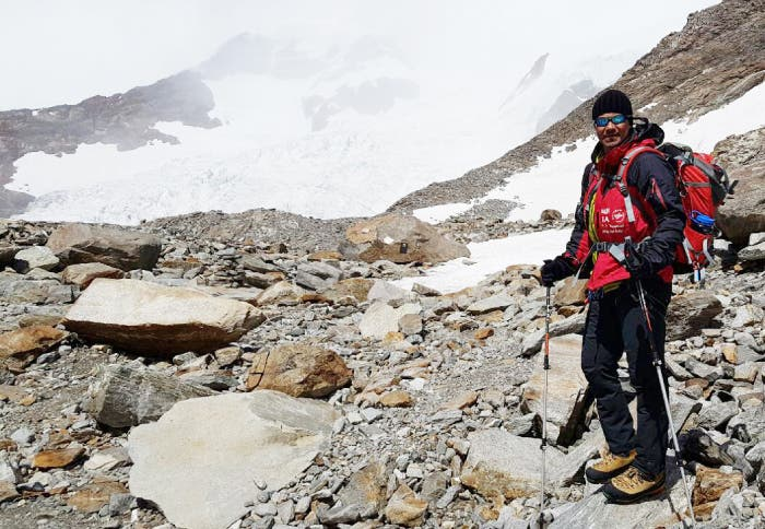 Essam Jawa, a father in his fifties, started climbing at an early age by scaling smaller peaks. (Saudi Gazette)
