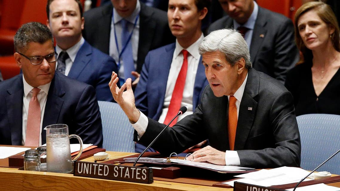 US Secretary of State John Kerry speaks during a meeting of the United Nations Security Council regarding nuclear non-proliferation and disarmament at UN headquarters, Friday, Sept. 23, 2016. (Photo: AP /Jason DeCrow)