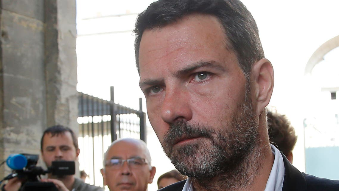 Former trader Jerome Kerviel arrives at the Versailles appeal court, west of Paris, Friday, Sept. 23, 2016. ap