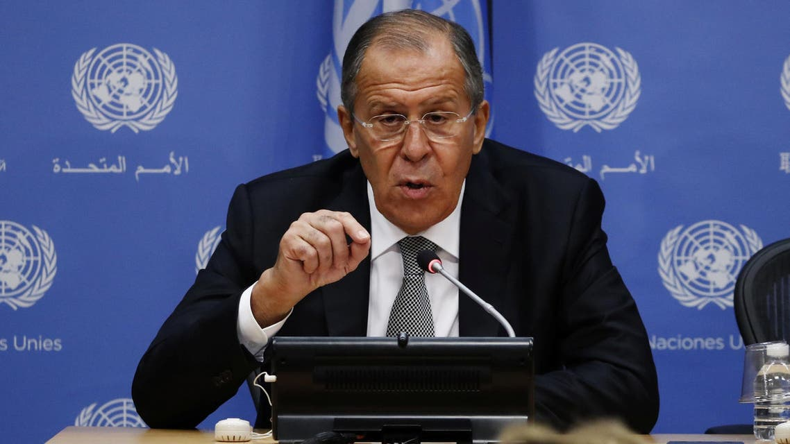Russian Foreign Minister Sergei Lavrov takes part in a news conference at United Nations Headquarters in New York, U.S., September 23, 2016. REUTERS