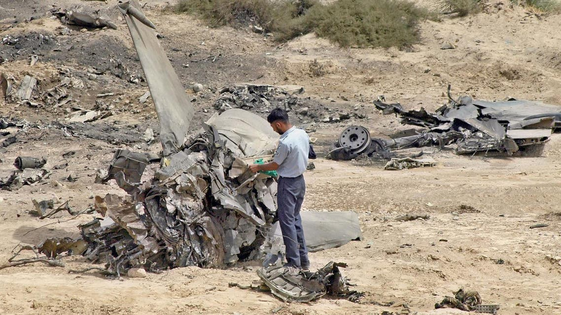 This file image shows a previous crashed F-7 fighter jet, which crashed shortly after taking off from a base during a training flight near the southwestern city of Quetta, Pakistan (File Photo: AP /Arshad Butt)