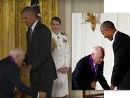 بالفيديو.. هل حاول ميل بروكس تجريد أوباما من بنطلونه؟