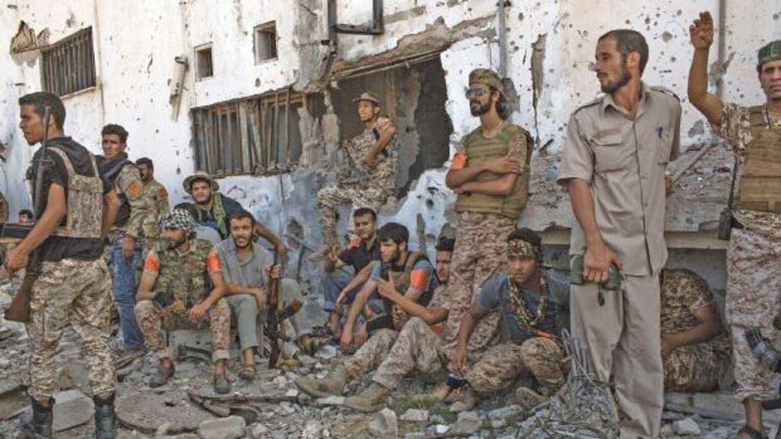 عناصر من القوات الموالية لحكومة الوفاق في ليبيا