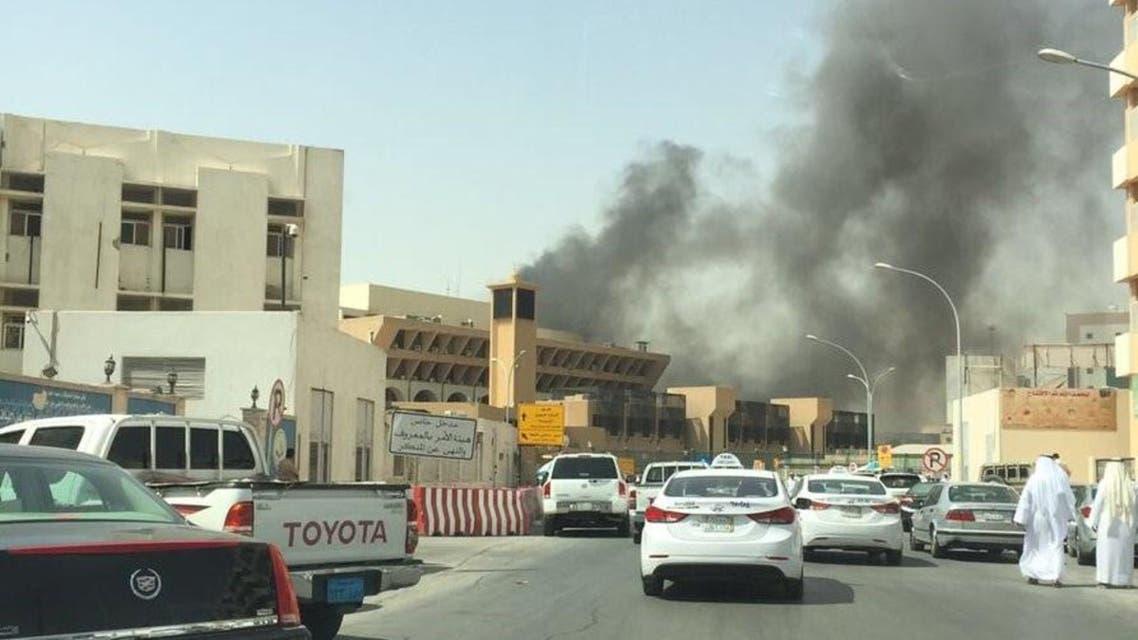 حريق جوازات الرياض