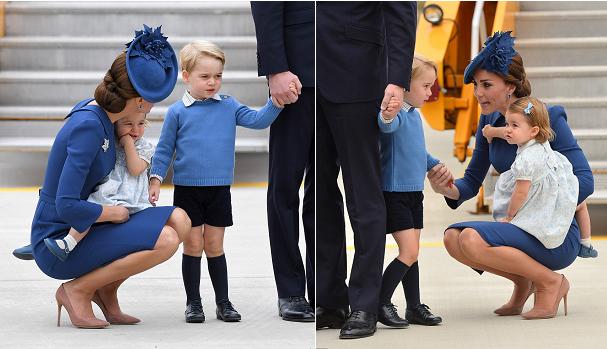 عند وصول الأمير الصغير وشقيقته مع أبويهما الى كندا