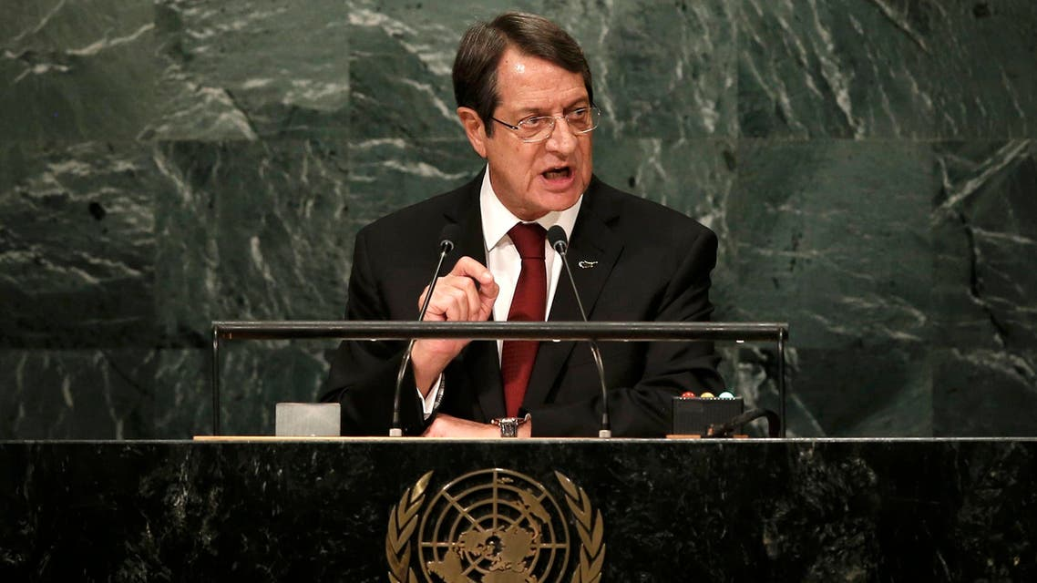 President Nicos Anastasiades of Cyprus addresses the 71st United Nations General Assembly in Manhattan, New York, U.S. September 22, 2016. REUTERS/Mike Segar