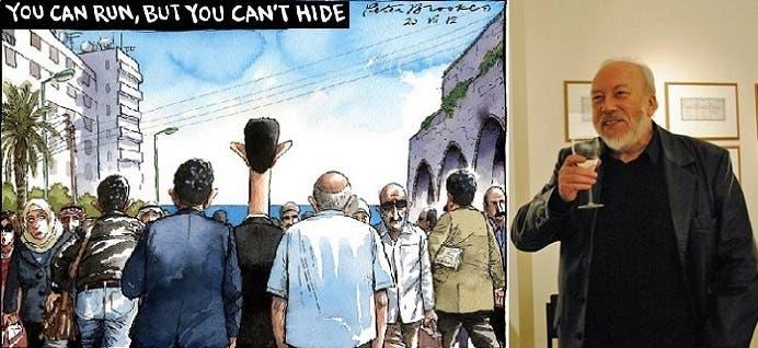 بروكس للأسد في الرسم الكاريكاتيري: يمكنك أن تهرب، لكنك لا تستطيع الاختباء