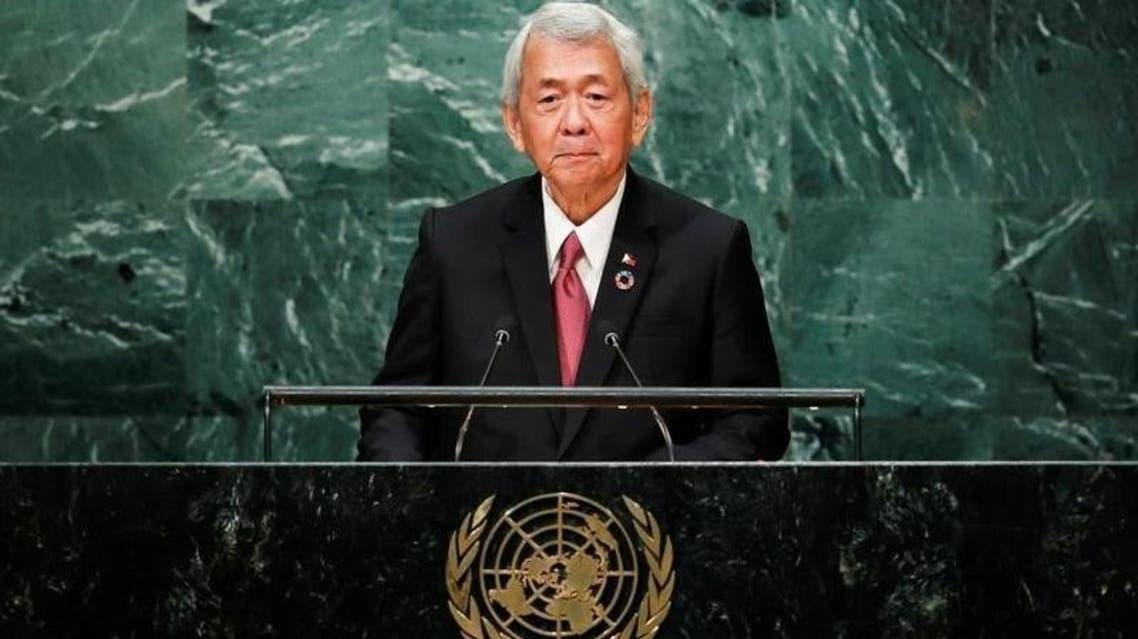وزير الخارجية الفلبيني بيرفكتو ياساي يتحدث أمام الجمعية العامة - رويترز