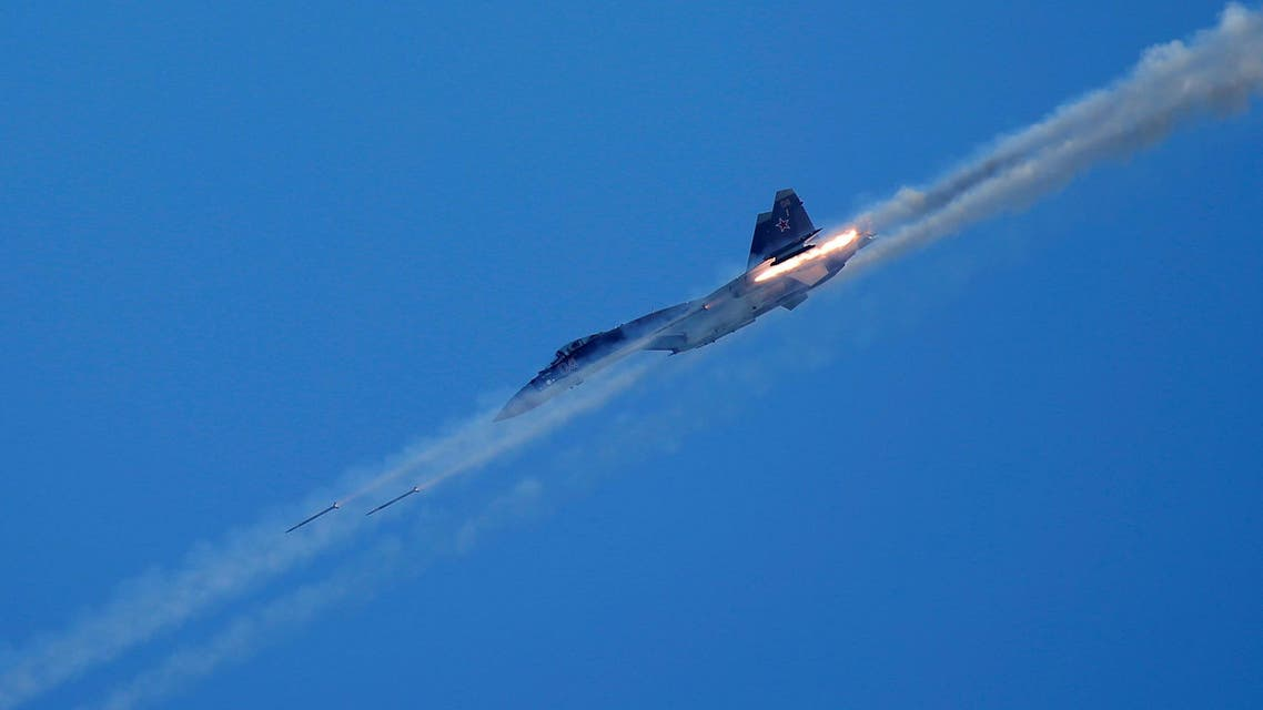 A Sukhoi Su-35 jet fighter performs during the International Army Games 2016, in Dubrovichi outside Ryazan, Russia, August 5, 2016. REUTERS/Maxim Shemetov