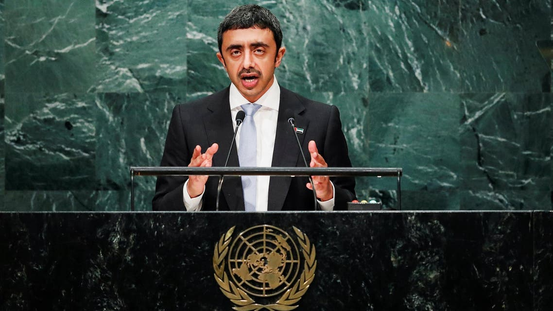 United Arab Emirates (UAE) Foreign Minister Sheikh Abdullah bin Zayed Al Nahyan addresses the United Nations General Assembly in the Manhattan borough of New York, U.S., September 24, 2016. REUTERS/Eduardo Munoz