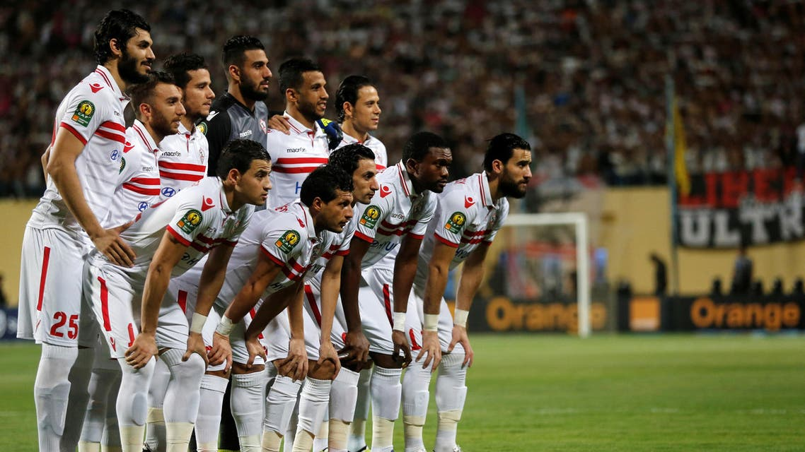 Football Soccer - CAF African Champions League - Egypt's El Zamalek v Nigeria's Enyimba - Petro Sport stadium, Cairo, Egypt - 15/8/2016 - Players of Egypt's El Zamalek pose for photograph before the game. REUTERS/Amr Abdallah Dalsh