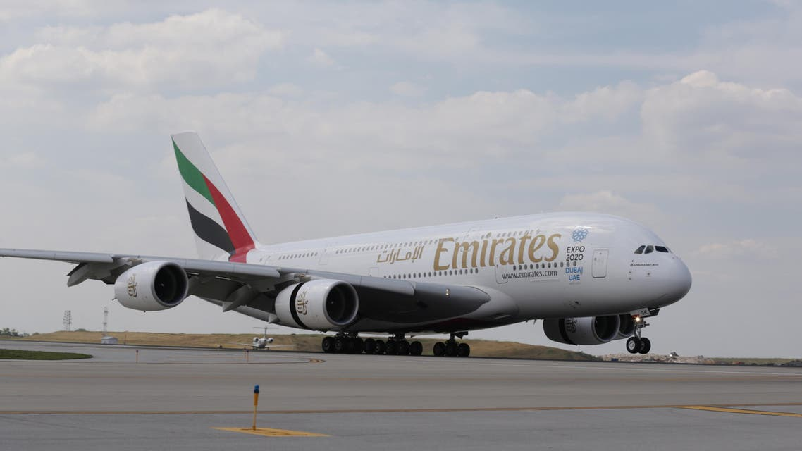 An Emirates A380 aircraft touches down at Chicago O'Hare International Airport (ORD) on Tuesday, July 19, 2016 marking the first A380 passenger service in O'Hare's history. (AP)