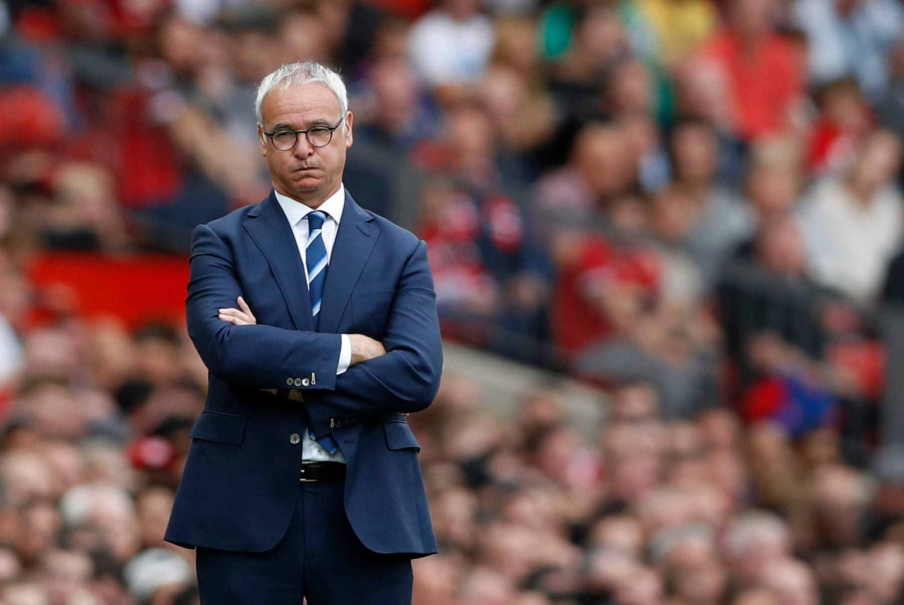 Leicester City manager Claudio Ranieri looks dejected Action Images via Reuters