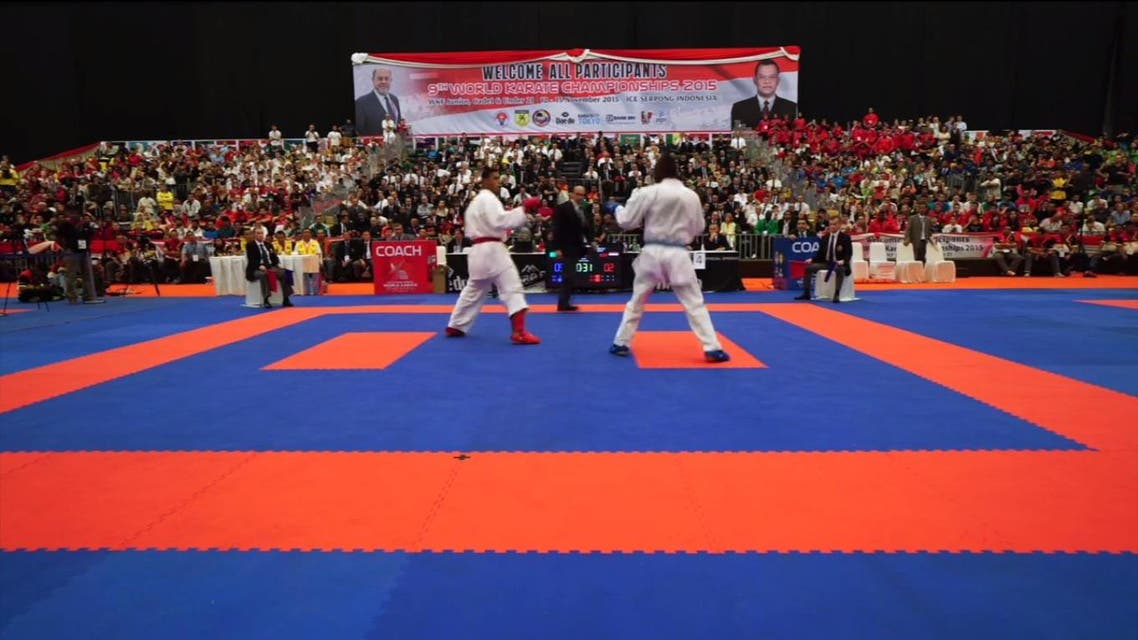 Tareq Hamidi won the gold medal of the World Championship held in Indonesia last year. (SPA)