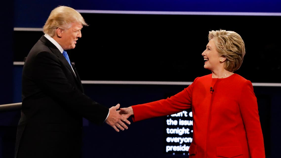 The Arab world twittersphere came to life when Republican presidential candidate Donald Trump went head to head with his Democratic counterpart Hillary Clinton. (AP)