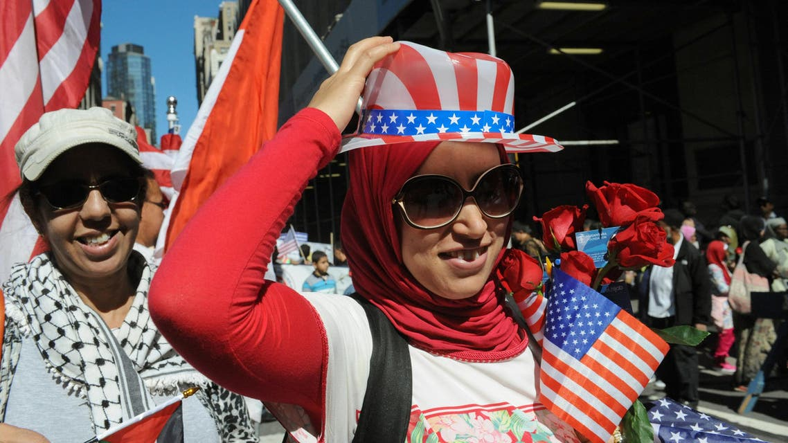 People participate in the annual Muslim Day Parade in the Manhattan borough of New York City, September 25, 2016. REUTERS/Stephanie Keit