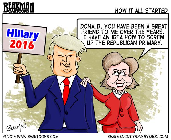 كيف رأى الكاريكاتير الأميركي الفرق بين كلينتون وترامب؟