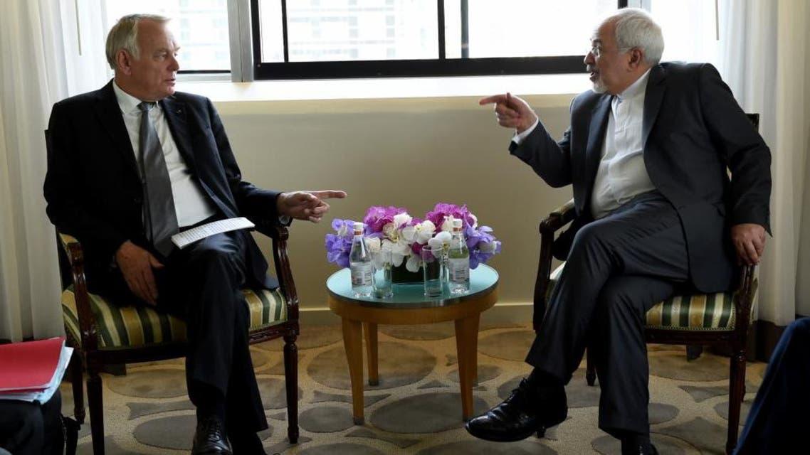 وزير خارجية ايران ونظيره الفرنسي