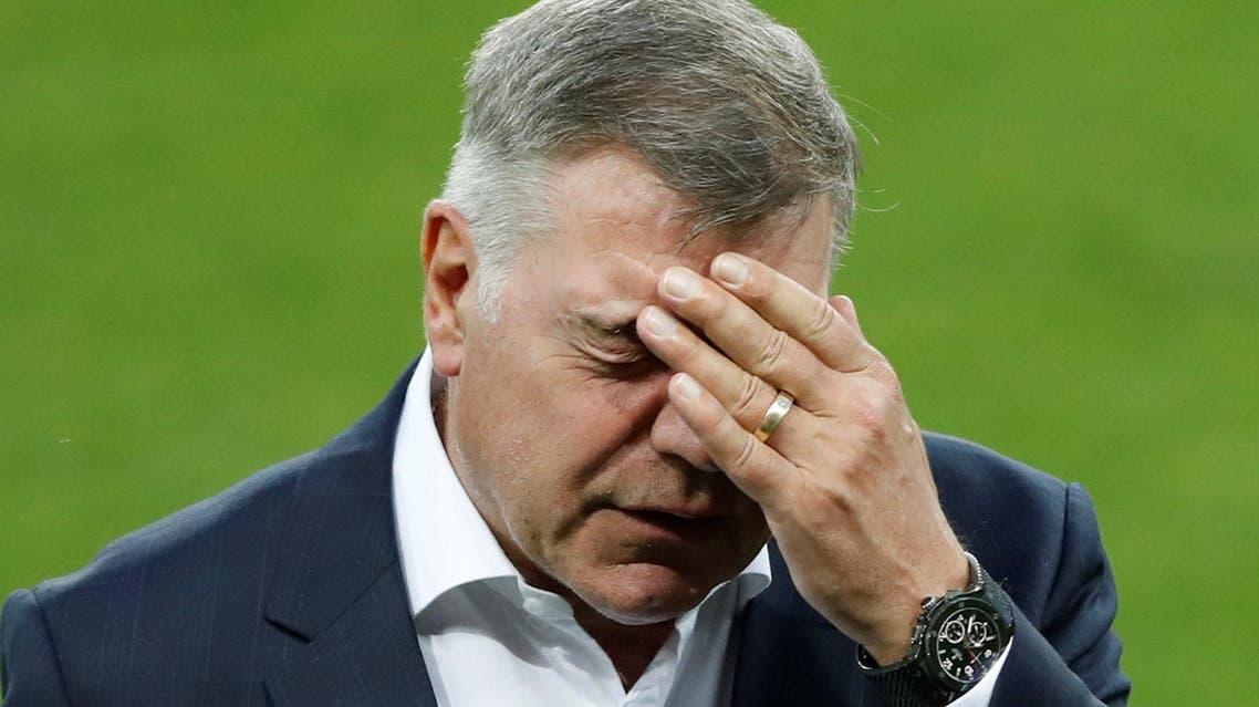 Allardyce during the England stadium visit. (Reuters)