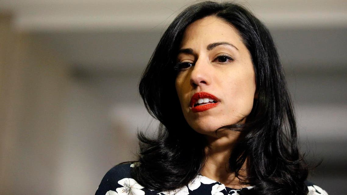Huma Abedin, a longtime aide to Hillary Rodham Clinton, speaks to the media after testifying at a closed-door hearing of the House Benghazi Committee, on Capitol Hill, Friday, Oct. 16, 2015. (Reuters)